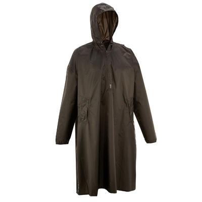 Hiking Rain Poncho - ARPENAZ 40 L - Size S/M - Grey