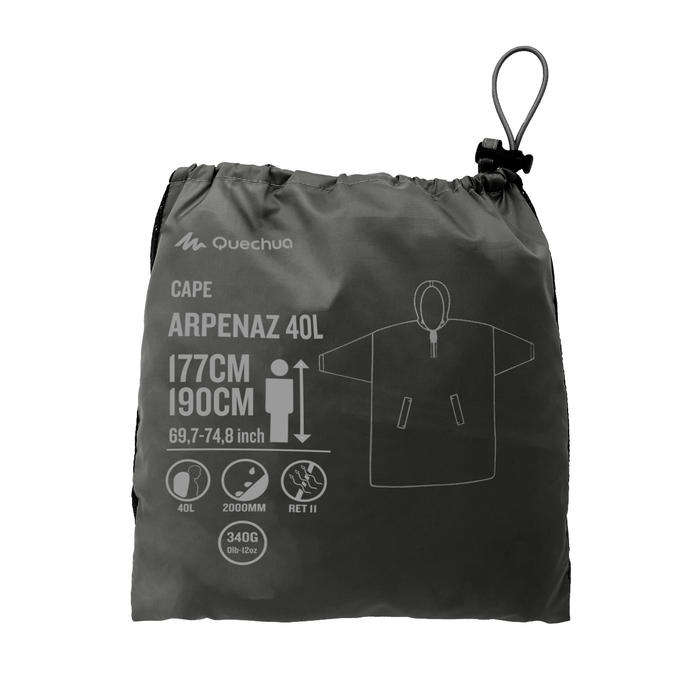 Regencape Arpenaz 40 Liter L/XL dunkelgrau