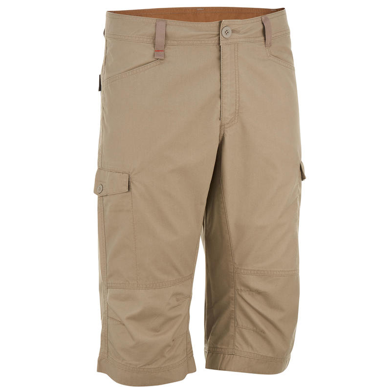 NH500 men's country walking three-quarter trousers - beige