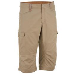 NH500男士自然健行七分褲 - 米色