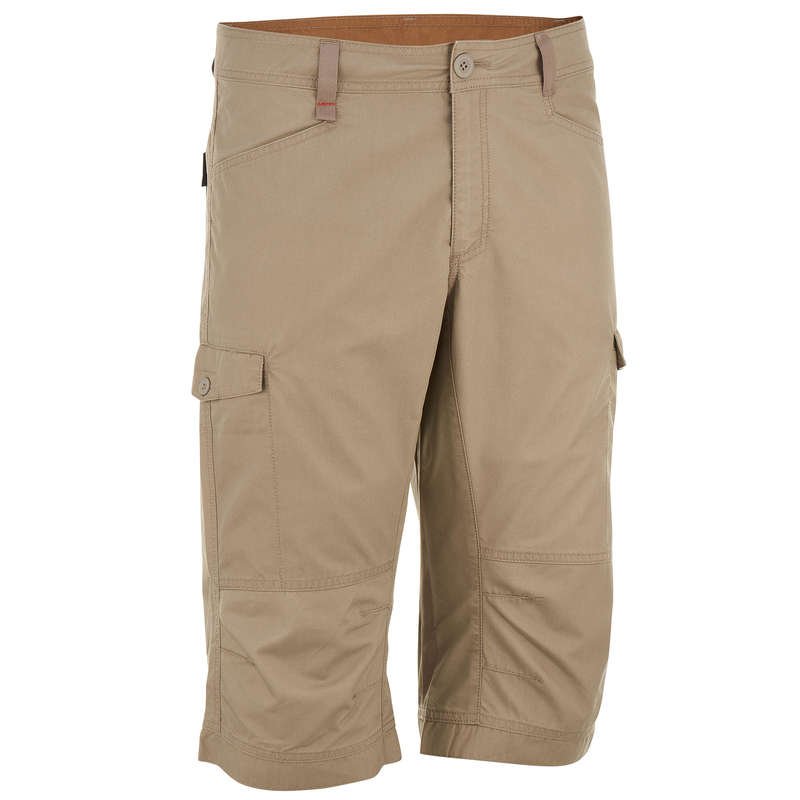 MEN NATURE HIKING SHORTS/T-SHIRTS Hiking - NH500 men's - beige QUECHUA - Hiking Clothes