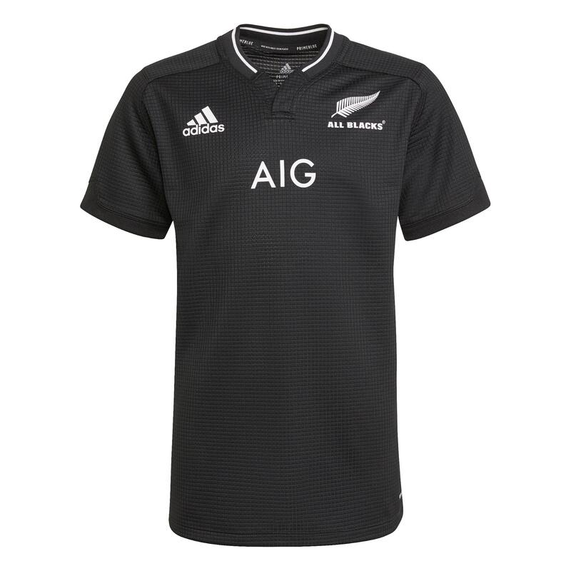 Maillot de rugby Adidas All Blacks replica Nouzelle-Zélande 2021 noir enfant