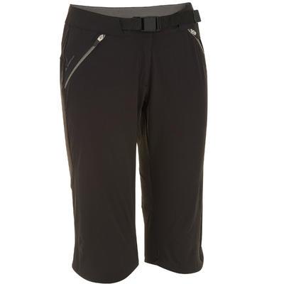 Pantalón 3/4 de Excursionismo Mujer Forclaz 500 Negro