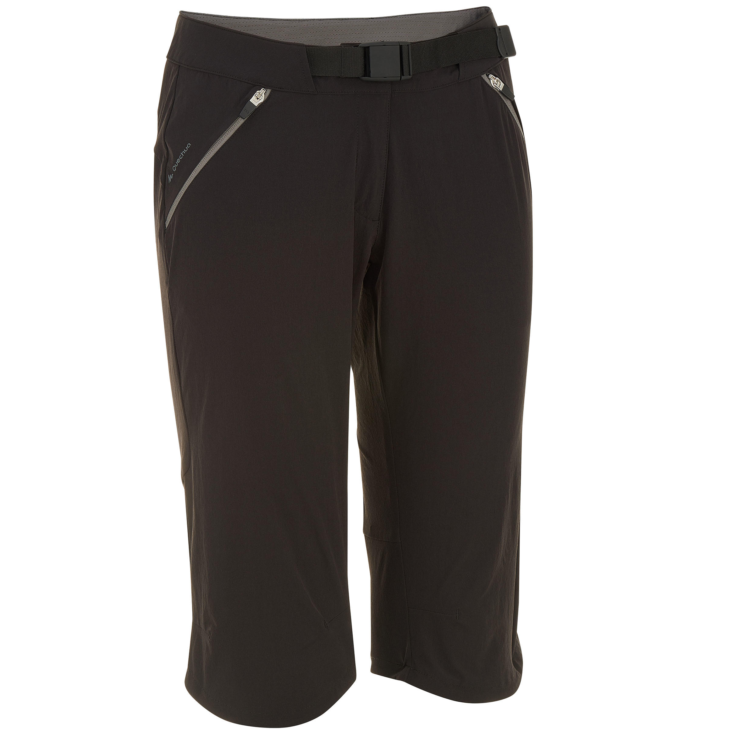 Forclaz 500 Women's Cropped Hiking Trousers - Black