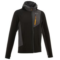男款登山健行防風衣TREK900-黑色