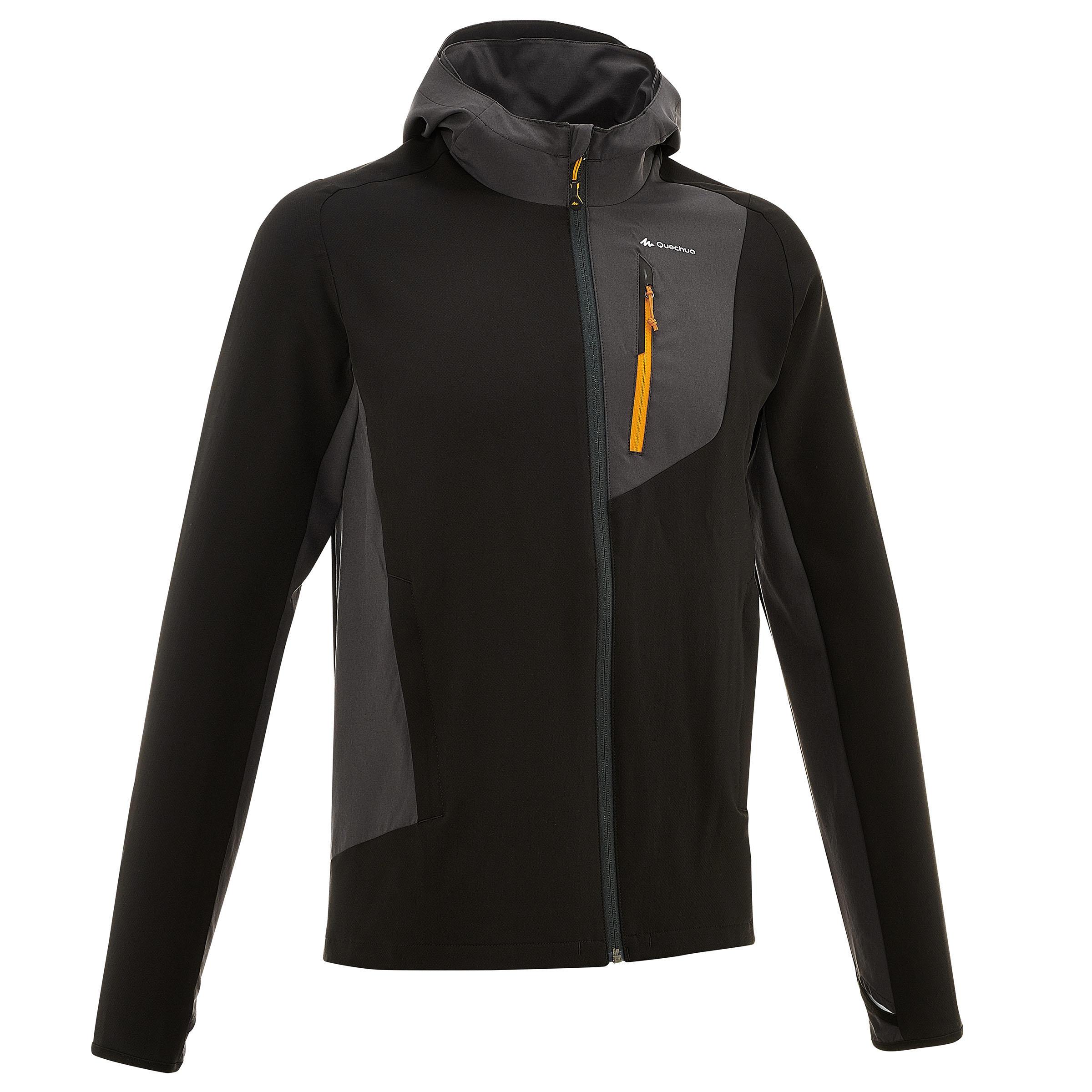 Windjacke Trek 900 Herren schwarz   Sportbekleidung > Sportjacken > Windbreaker   Grau - Schwarz   Quechua