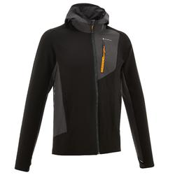 Men's black TREK 900 mountain trekking jacket