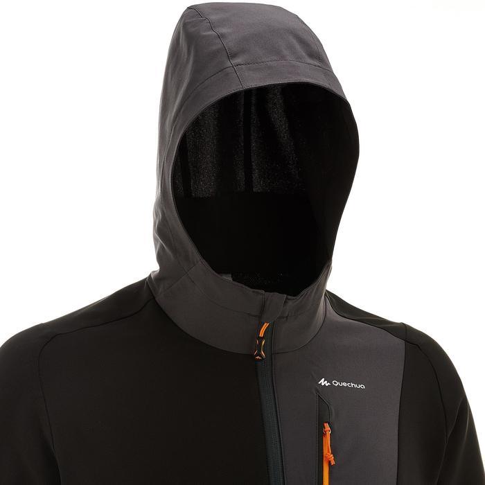 Trekking-Windjacke Trek 900 Herren schwarz