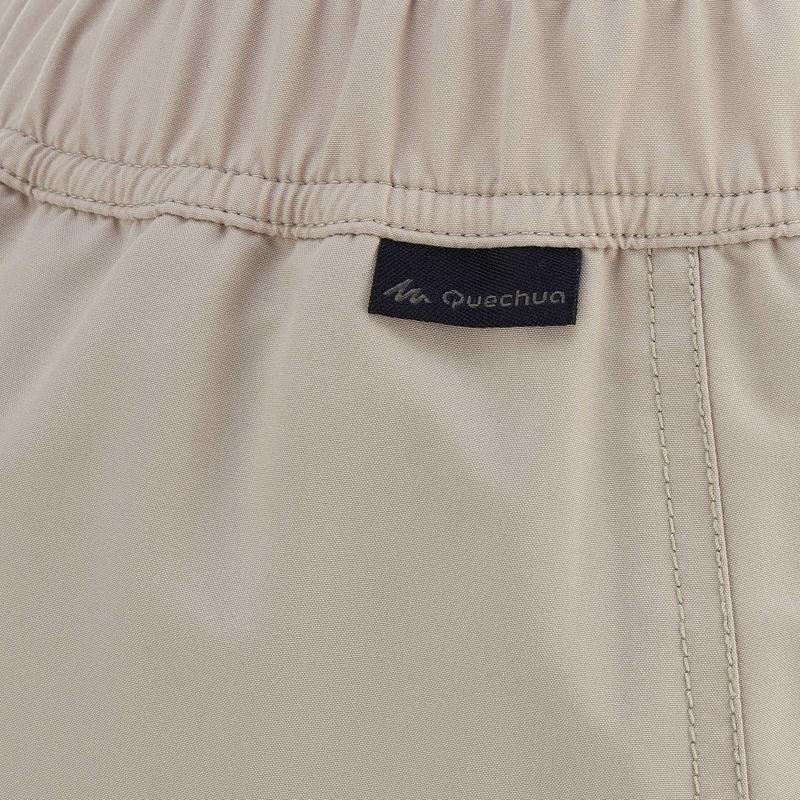 Falda-pantalón senderismo en la naturaleza mujer NH100 beige