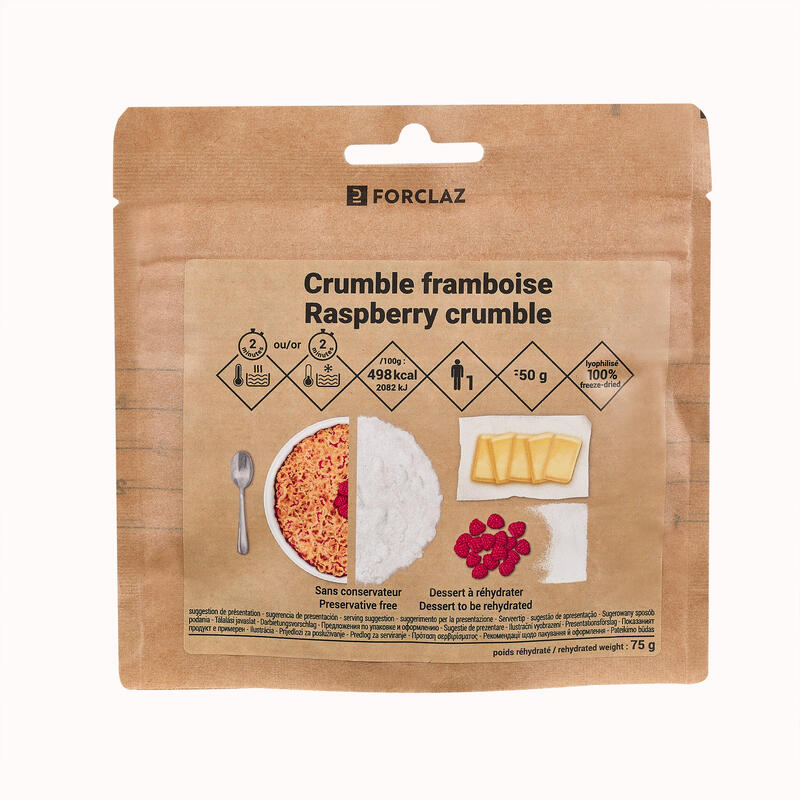 Freeze-Dried Raspberry Crumble Dessert For Trekking 70 g