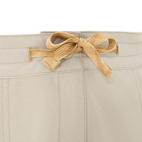 Pantalón campamento Arpenaz 50 dama beige