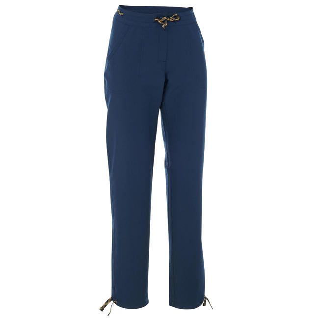Women's Hiking Pant NH100 - Navy Blue