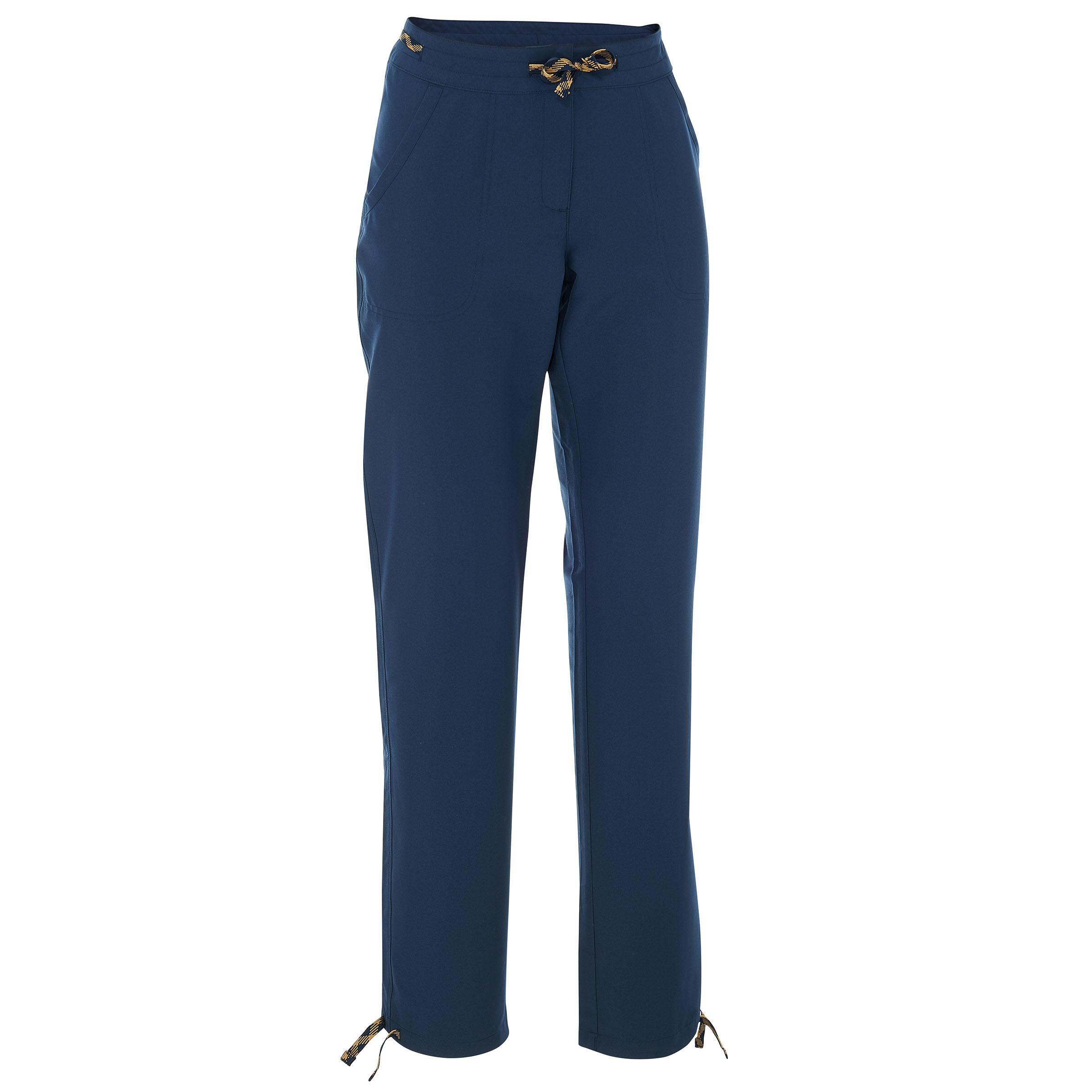 Pantalón de campamento dama Arpenaz 50 azul marino