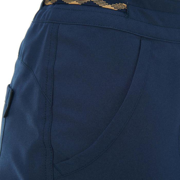 Broek voor wandelen in de natuur NH100 marineblauw dames