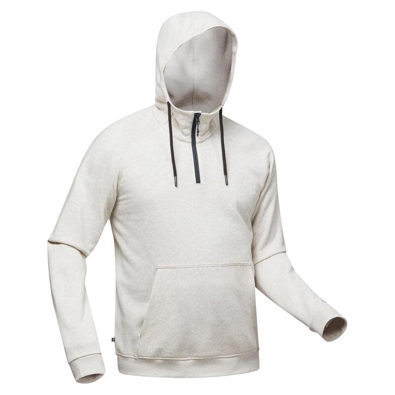 Men's Hiking Hooded Sweatshirt - NH150 1/2 Zip