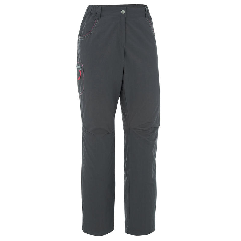 Pantalón de Excursión Mujer Forclaz 50 Gris oscuro