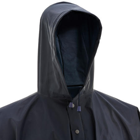 Impermeable poncho lluvia impermeable Arpenaz 10 l. adulto azul