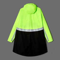 Fahrrad-Regenponcho City 560 Sichtbarkeit PSA neongelb/schwarz