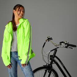 Giacca impermeabile ciclismo donna 500 DPI gialla