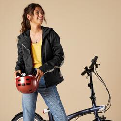 Giacca impermeabile ciclismo donna 540 DPI nera