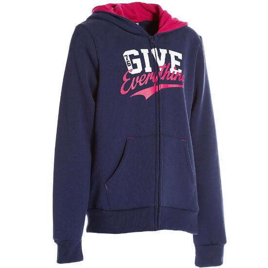 Warme gym hoodie met rits voor meisjes - 210283