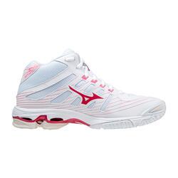 Scarpe pallavolo donna Voltage bianco-rosa