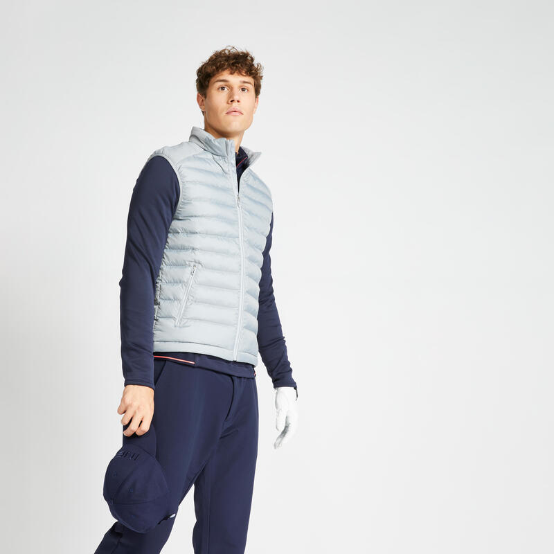 Doudoune de golf sans manches hiver homme CW500 gris acier