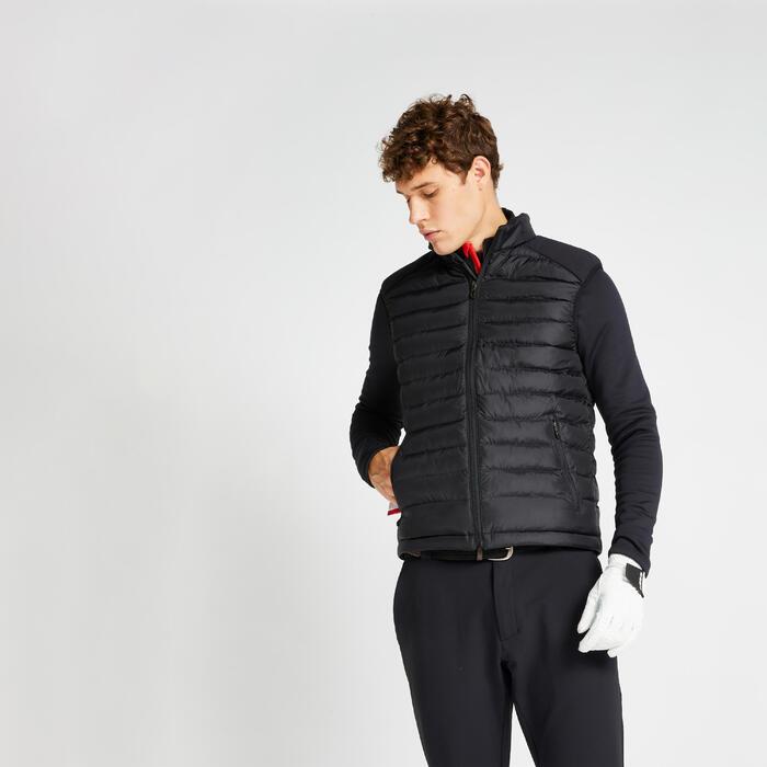 Golf Steppweste warm CW500 Herren schwarz