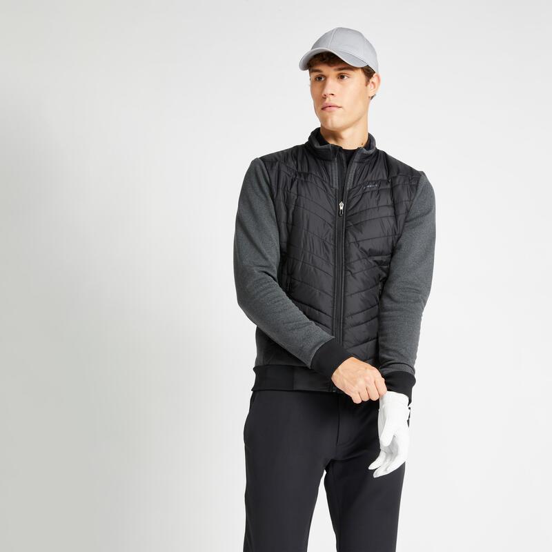 Gewatteerde golfwinterjas voor heren CW500 zwart