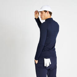 Sous pull de golf hiver homme CW500 bleu marine