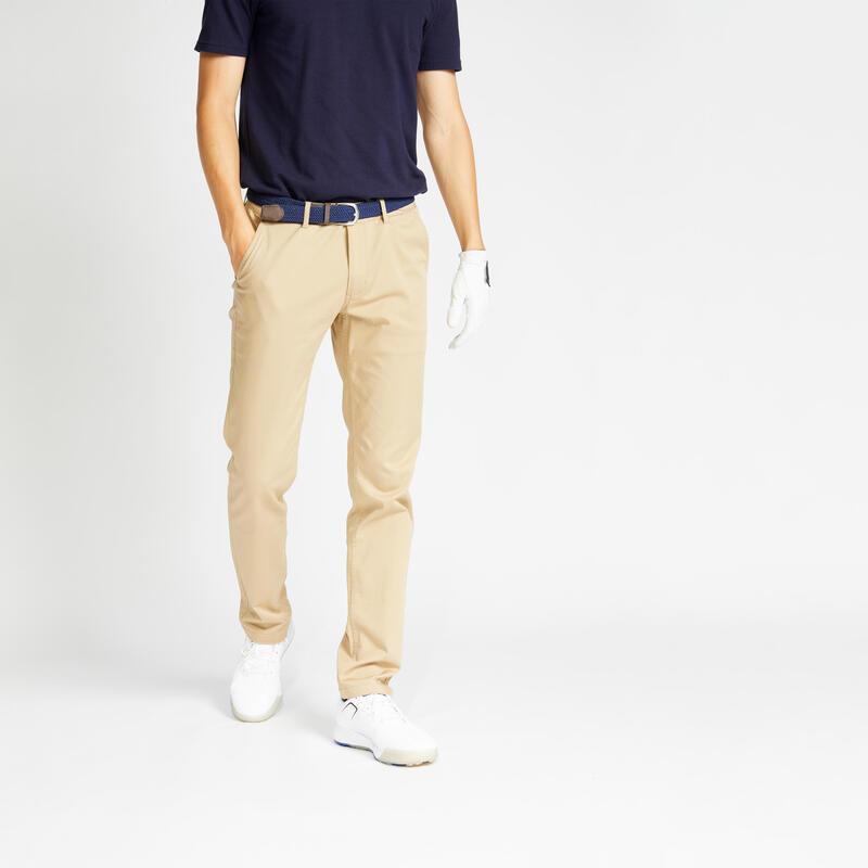 Pantalon de golf homme MW500 beige