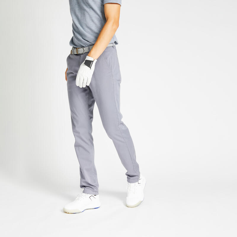 Men's golf trousers MW500 grey