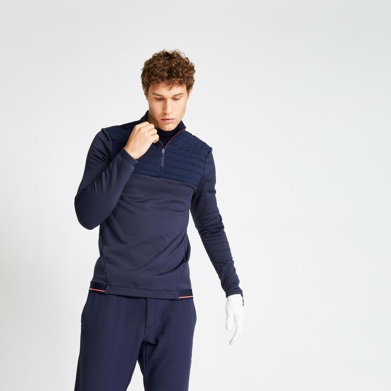 Pull polaire de golf hiver homme CW500 bleu marine