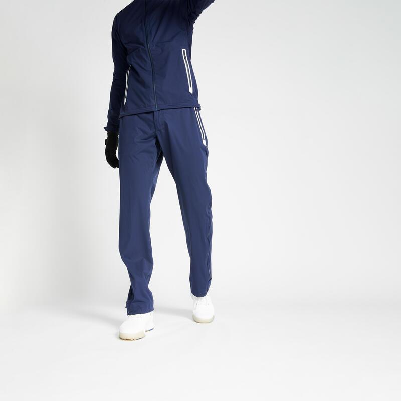 Pánské golfové kalhoty Rain Weather tmavě modré