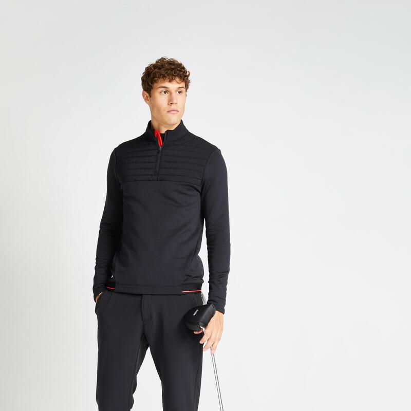 Pull polaire de golf hiver homme CW500 noir