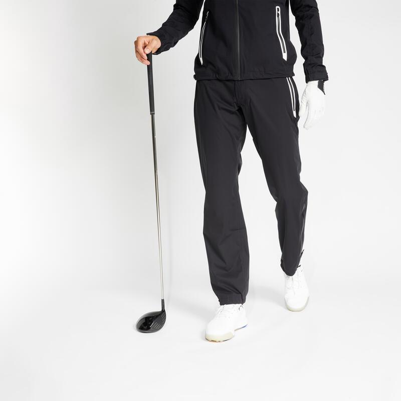 Pánské golfové kalhoty Rain Weather černé