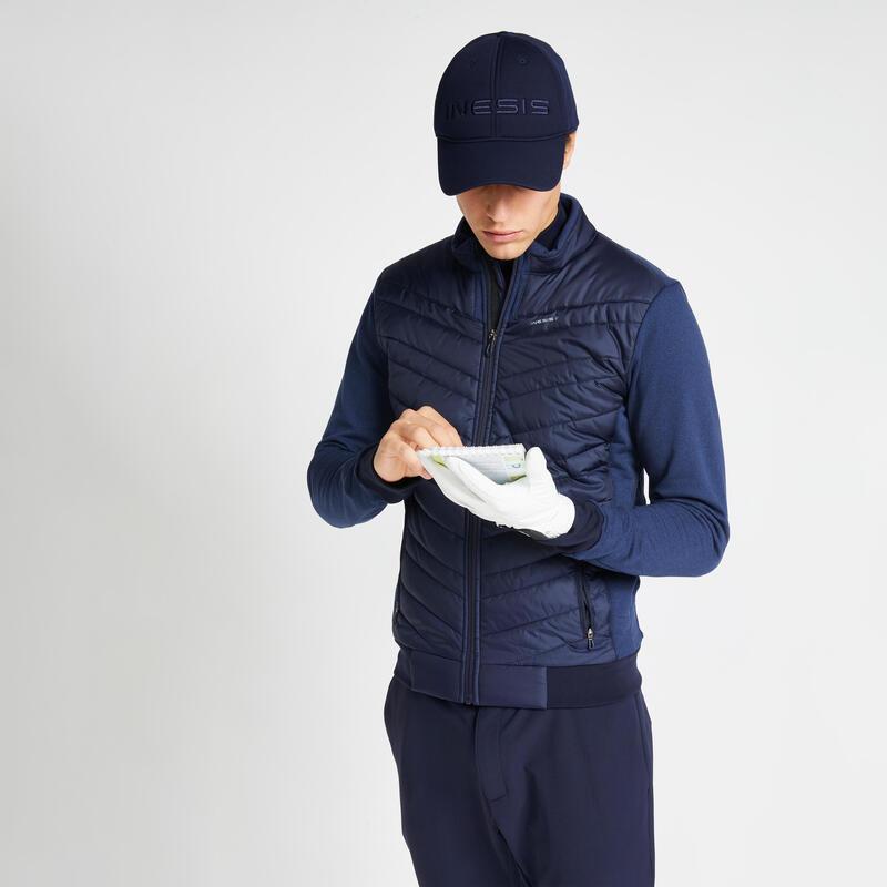 Gewatteerde golfwinterjas voor heren CW500 marineblauw