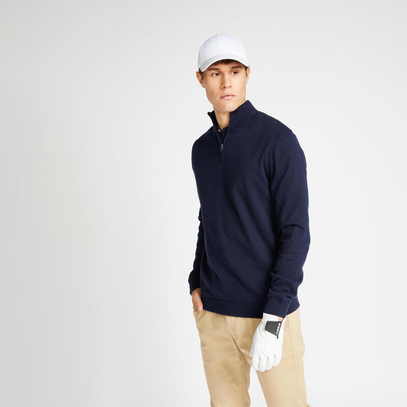 Men's golf windproof pullover MW500 navy blue