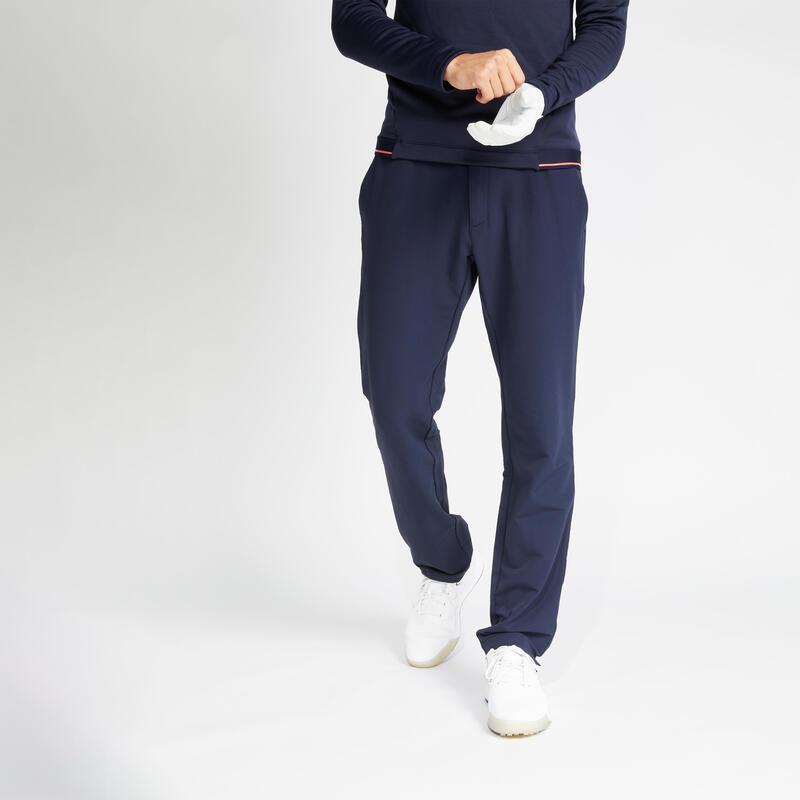 Pánské golfové kalhoty do chladného počasí CW500 tmavě modré