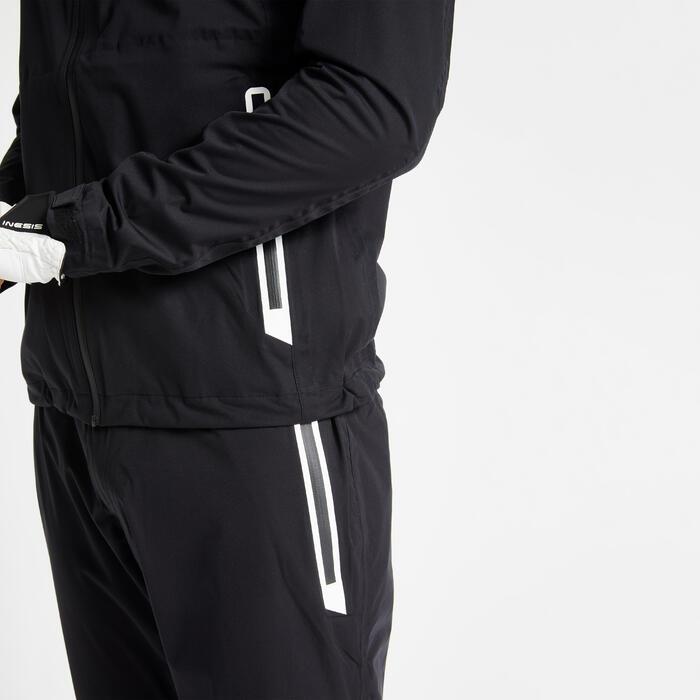 Golf Regenjacke wasserdicht RW500 Herren schwarz