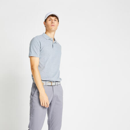500 Men's Golf Short Sleeve Temperate Weather Polo Shirt - Heather Grey