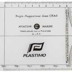 Cras navigatieplotter, transparant met zwarte schaalverdeling - 210494