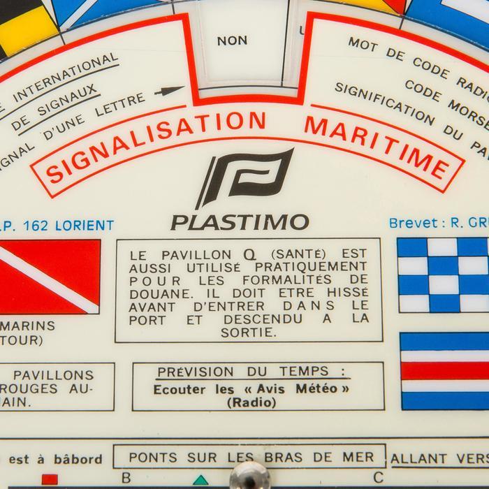 Schijf met seinvlaggen op zee Plastimo