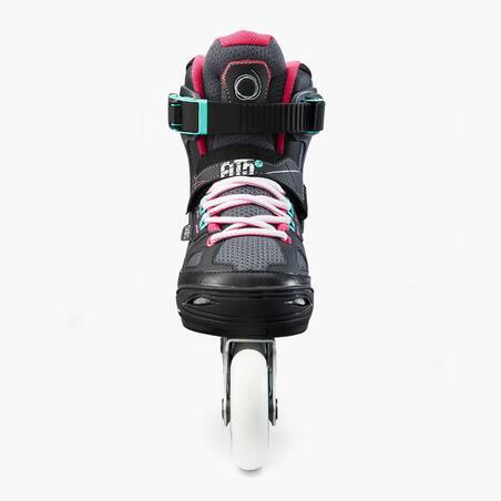Fit 5 Jr Kids' Inline Fitness Skates - Grey/Pink