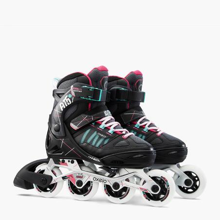 Fit 5 Jr Kids Inline Fitness Skates - Grey/Pink