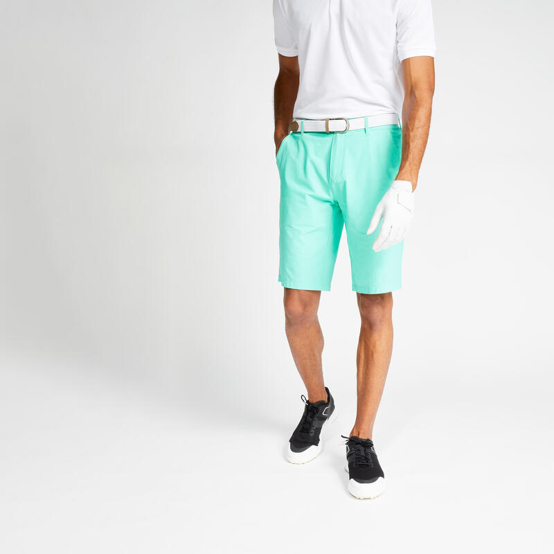 Pantaloncini golf uomo light 500 verdi