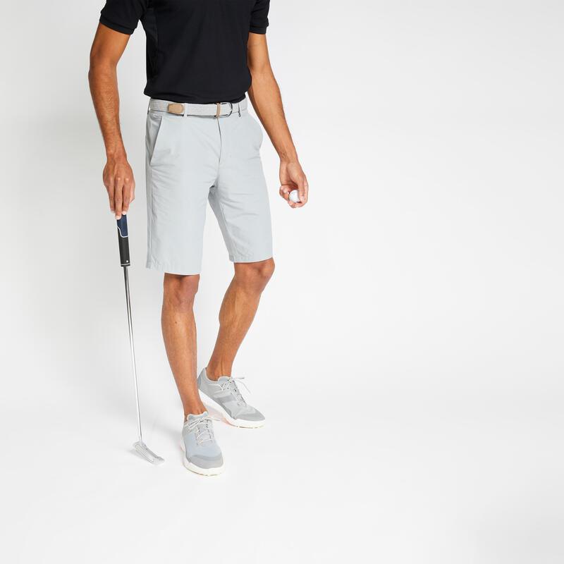 Men's golf shorts WW500 grey