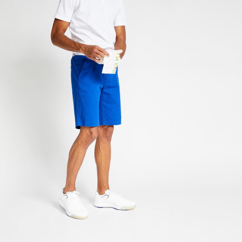 Short de golf homme MW500 indigo