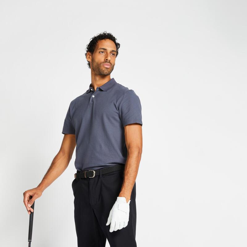 Polo de golf manches courtes homme MW100 Gris