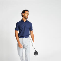 Polo de Golf WW500 Manga Curta Homem Azul marinho
